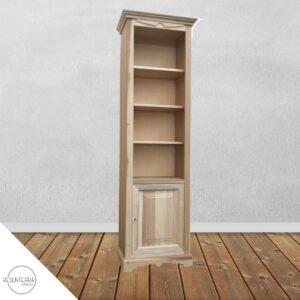 Libreria 1 porta Bugnata 4 ripiani art.57